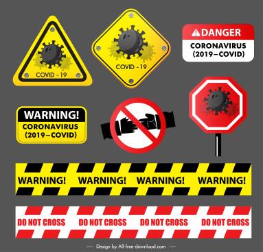 ncov warning signs template road alarm sketch