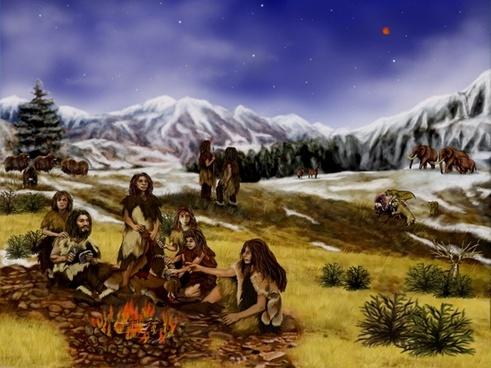 neanderthals prehistoric mountains