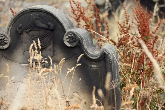 neglected tombstone