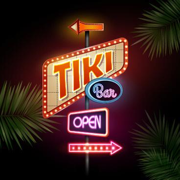 neon advertising sign vectors