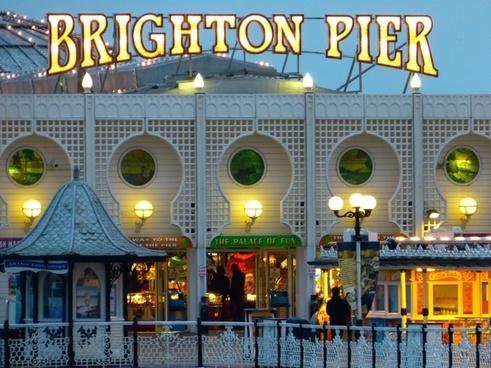 neon brighton pier