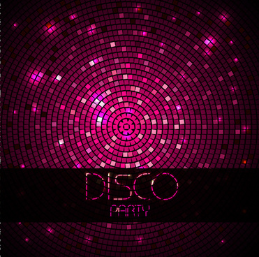 neon disco music party flyers design vector