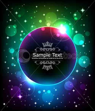 neon glitter background vector set