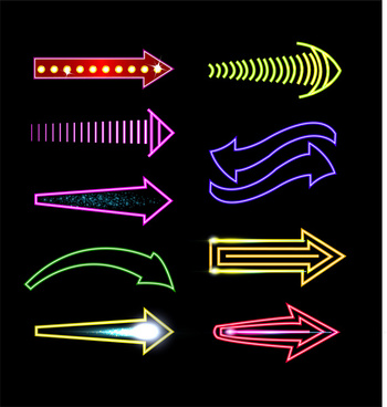 neon light arrow collection