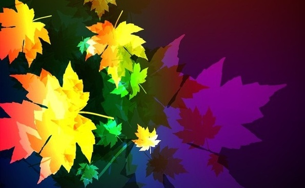 autumn background dark multicolored falling maple leaves decor