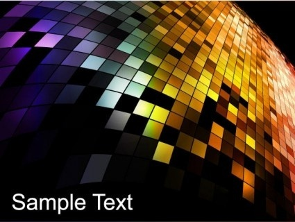 neon mosaic colorful background vector