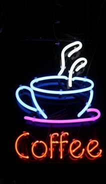 neon sign coffee