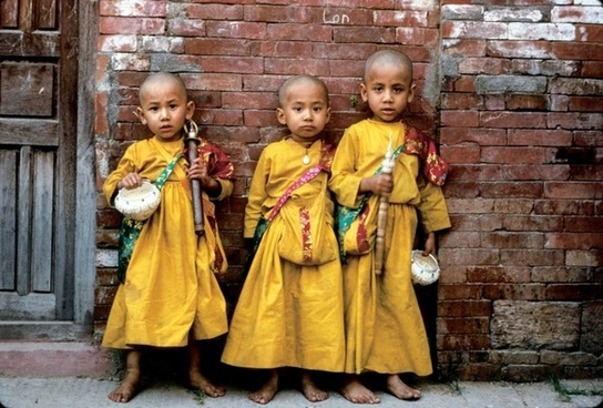 nepal children native dress