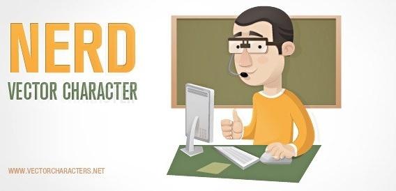nerd vector character