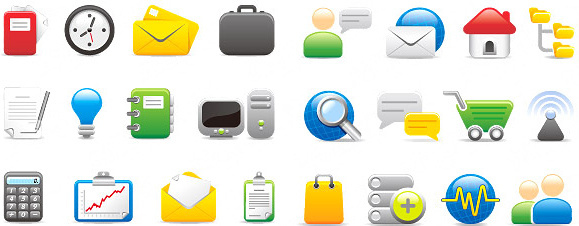 network and office icon vector