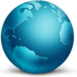 Network Globe Connected