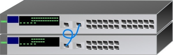 Network Switch Stack clip art
