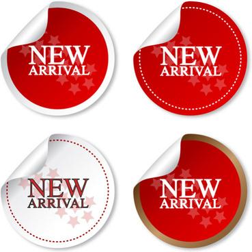 new arrival sticker vector