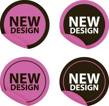 new design stickers vectors