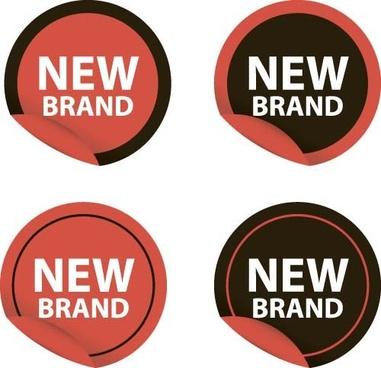 new design stickers vectors