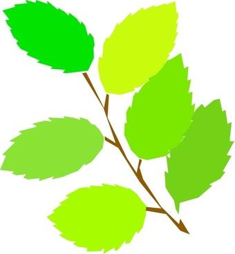 New Leaves Spring clip art