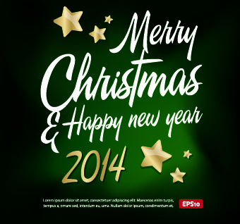 new year14 christmas background vector