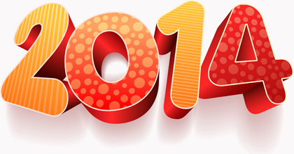 new year14 creative vector graphics