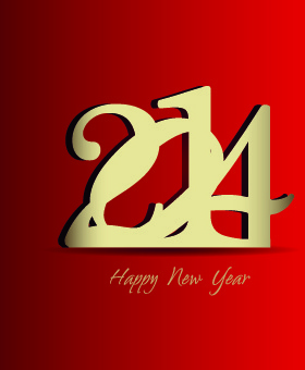 new year14 design vector