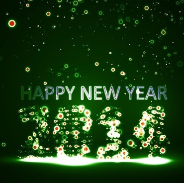 new year14 green light dot background