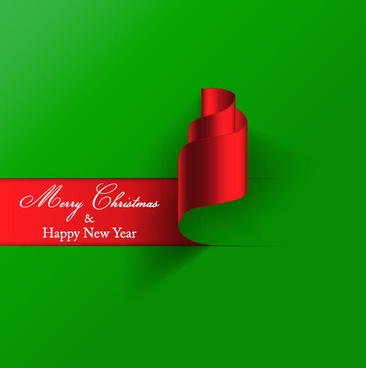 new year and christmas green with red background