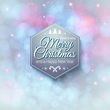 new year christmas labels and background