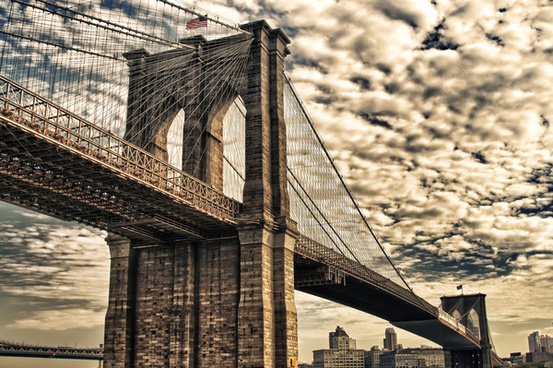 new york city brooklyn bridge hdr