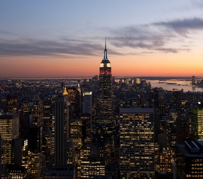 new york city night evening