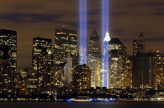 new york city tribute in lights sky