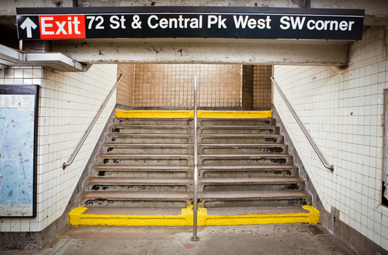 new york subway stairs