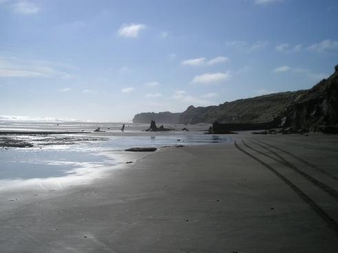 new zealand beach sand beach