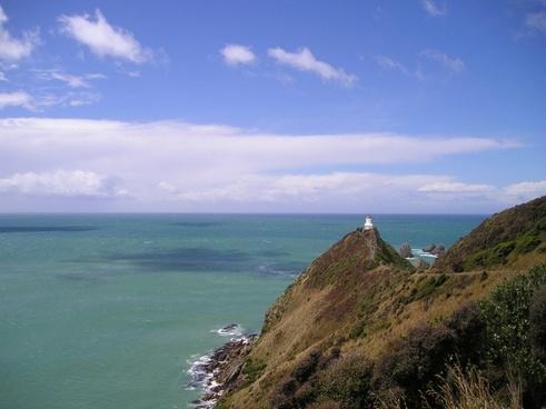 new zealand lighthouse sea