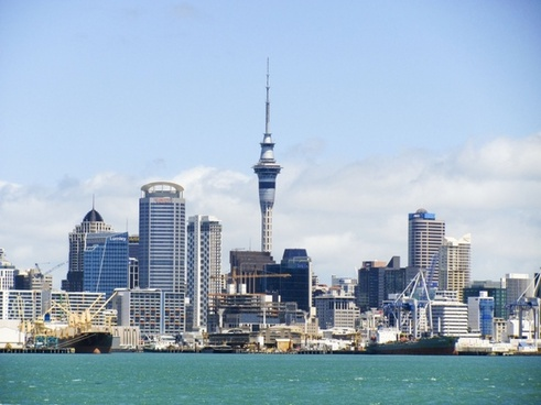 new zealand skyline auckland