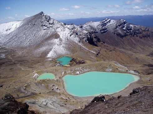new zealand tongariro crossing emerald lakes