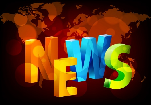 news background 3d multicolored texts decoration bokeh design