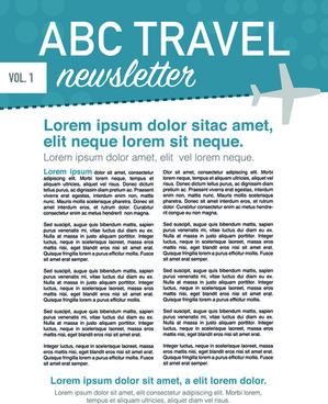 news page layout design vector