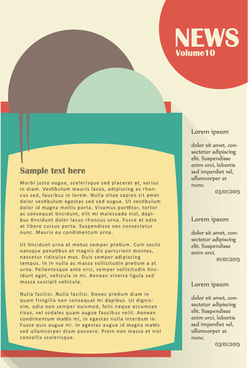 news page website template vector