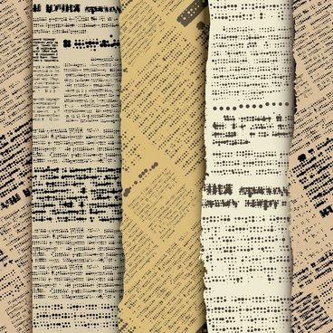 newspaper alphabet stickers retro vector