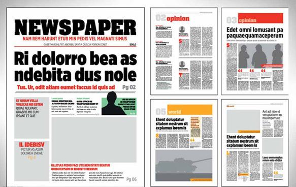 newspaper typesetting vector