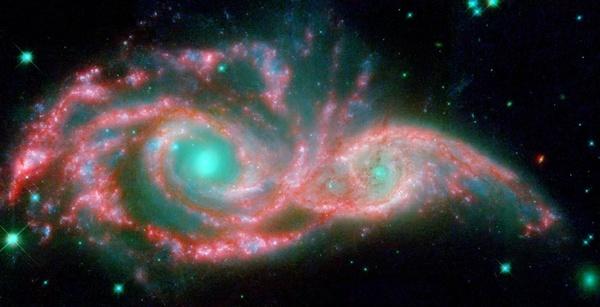 ngc 2207 spiral galaxy light year