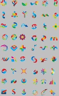 nice logo template vector graphics