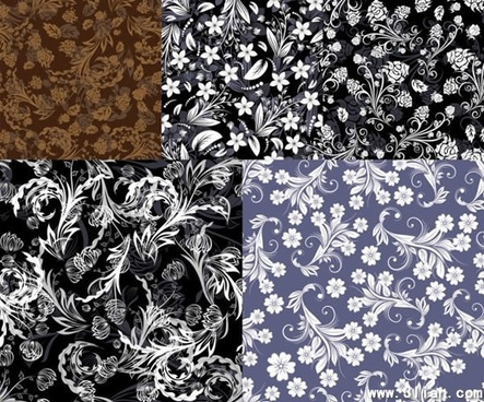 decorative pattern templates classical flora decor