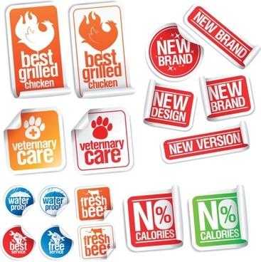 nice sticker label vector