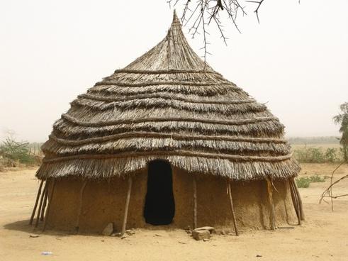 niger africa hut