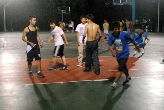 night basketball