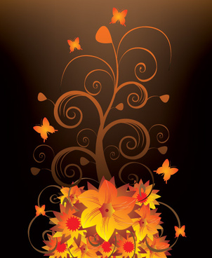 night blooming vector graphic