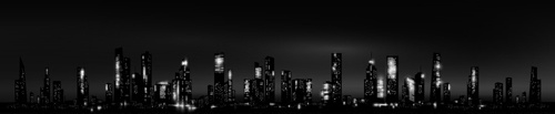 night city skyscrapers vector