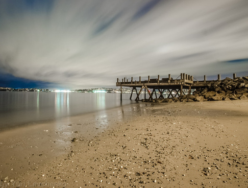 night clouds and pier