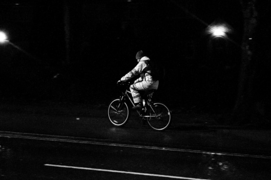 night cyclist