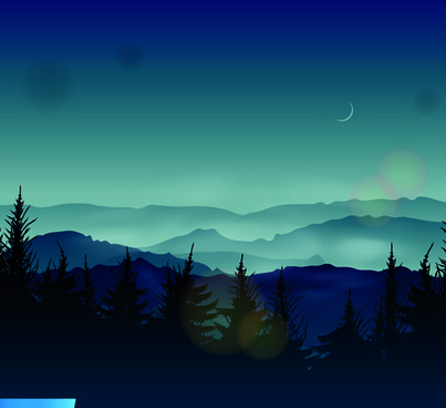 night the moon elements vector